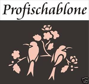 Schablonendekor-Malerschablone-Stupfschablone-Wandschablone-Schwalbenpaar