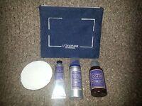 L'occitane En Provence-5 Piece Travel-aftershave Balm,2 Gel,shaving Soap W/bag