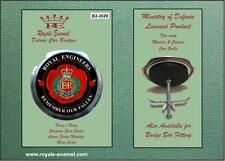 Royale Military Car Grill Badge & Fittings ROYAL ENGINEERS POPPY B2.3529