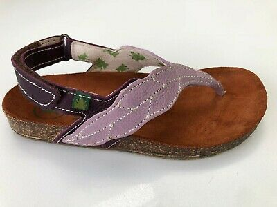 El Naturalista Suber Lilac Leather Flip Flop Sandal with Back Strap