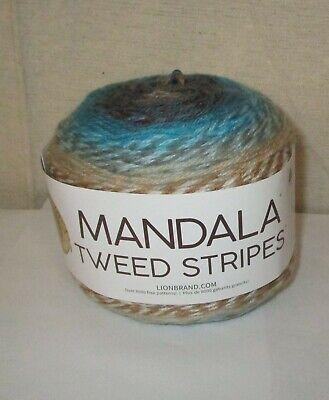 LION BRAND~Buddha MANDALA TWEED STRIPES 4 Medium Yarn