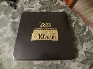 Empty-Disney-D23-2019-10th-Anniversary-Exclusive-Gold-Member-Pin-Set-Tin-NO-PINS
