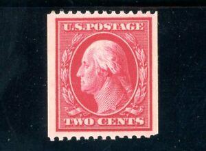 USAstamps Unused VF US 1910 Washington Coil Single Scott 386 OG MVLH