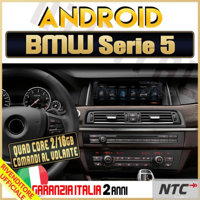 "AUTORADIO 10"" Android 4Core BMW Serie 5 F10 F11 GT 520D 2009-2017 Navigatore CIC"