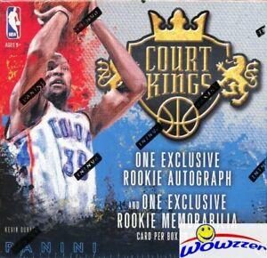 2014-15-Panini-Court-Kings-Basketball-ROOKIE-EDITION-Sealed-Box-2-RC-AUTO-MEM