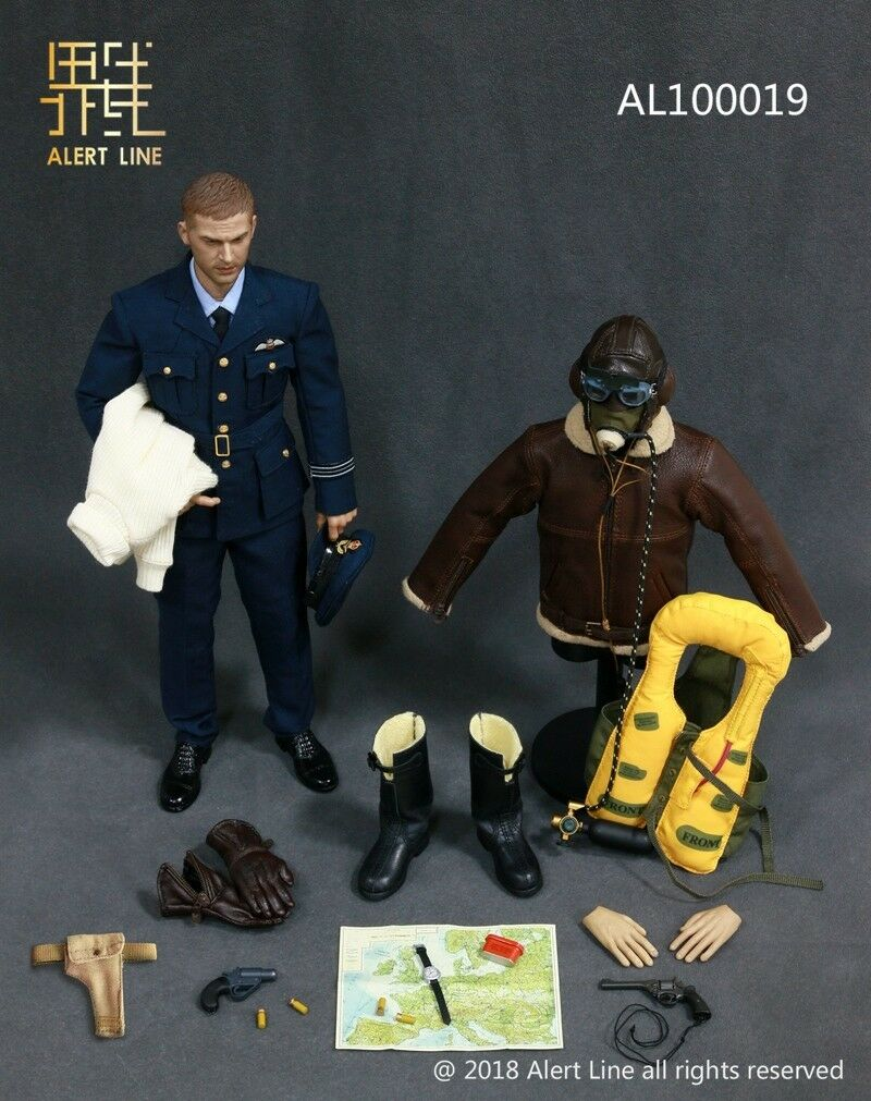 Alert line action figure ww11 british RAF PILOT 1 6 12'' boxed dragon hot toy
