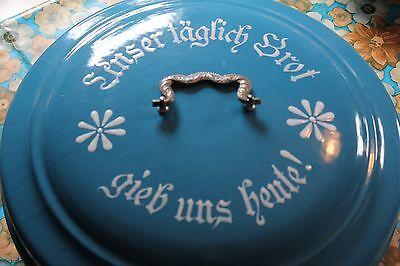 Antike Emaille Brotdose Brotkapsel Blau Zustand 1!!!!!!!