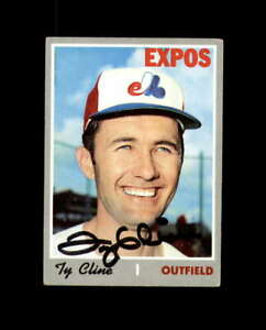 Ty Cline Hand Signed 1970 Topps Montreal Expos Autograph