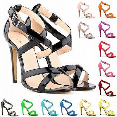Womens Fashion High Heel Ankle Strap Stilettos Platform Sandals Pumps Size 4-11