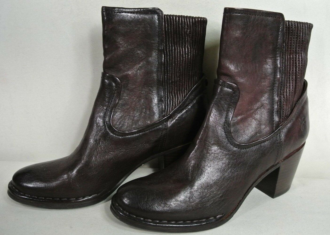 NEW w o Box Frye Brown Melissa Scrunch Scrunch Scrunch Short Boots - Size 7.5 98cb6f