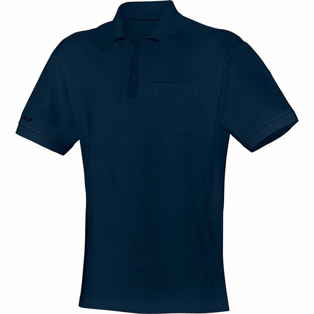 Jako Freizeit Polo Team Team Team mit Brusttasche Polo-Shirt Herren dunkelblau  | Umweltfreundlich  11ae87