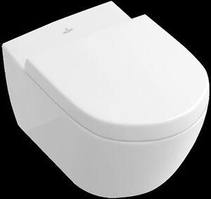 Details zu Villeroy Boch SUBWAY 2.0 Wand Hänge WC Set C-Plus mit Deckel  Softclose 560010R1