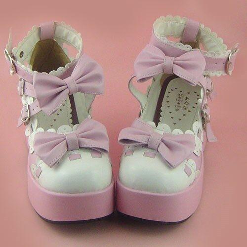 pink lolita Shoes Schuhe Stöckel tea time party sweet Süß princess cosplay damen