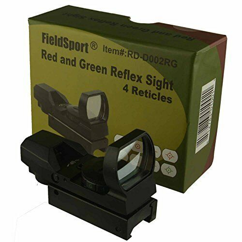 Red and Green Reflex Sight with 4 Reticles - for Rapid-firing & Moving Targets