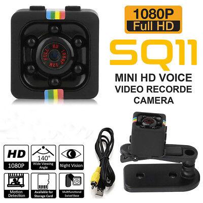 SQ11 Full HD 1080P Spionage Kamera Überwachungskamera IR Nachtsicht Bewegungsmer