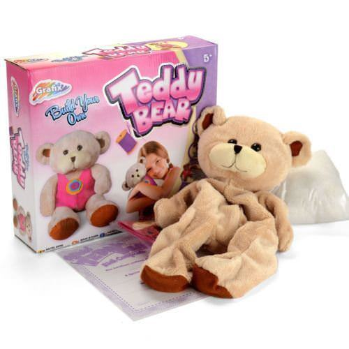 GRAFIX Childrens//Kids A Make//Build Your Own Stuffed Teddy Bear Kit Party Factory