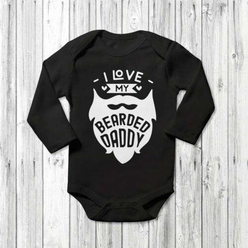 I Love My barbu papa Baby Grow Vest body courtes manches longues