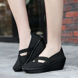 Women-Wedge-Mary-Jane-Sandals-Closed-Toe-Weave-Platform-Heel-Sandals-Shoes