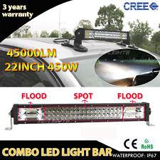 "TRI-ROW OSRAM 450W 22"" COMBO LED Work Light Bar Offroad Pickup SUV 4WD CAR Truck"
