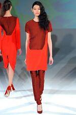 Chalayan A/W 2012 Ready-To-Wear Catwalk Red Dress 38 uk 6