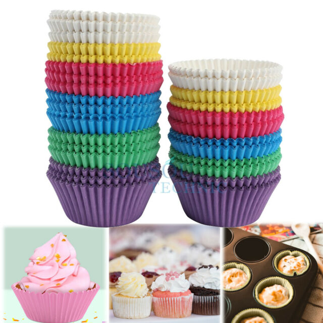 100PCS Paper Cupcake Case Muffin Baking Cup Cake Case Box Coloured Party Supply