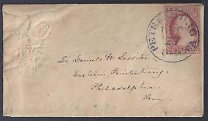 Ee. Uu. 1850's Petersburgo VA 3cts Pagado en Azul Atado Sc 11 Flor Relieve Damas