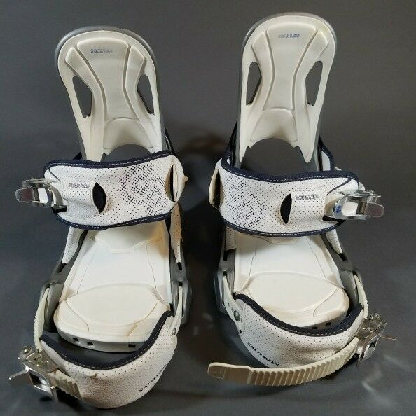 SALOMON RELAY S SERIES SNOWBOARD BINDINGS, USED, STEEL CABLE, EXTRA PADDING