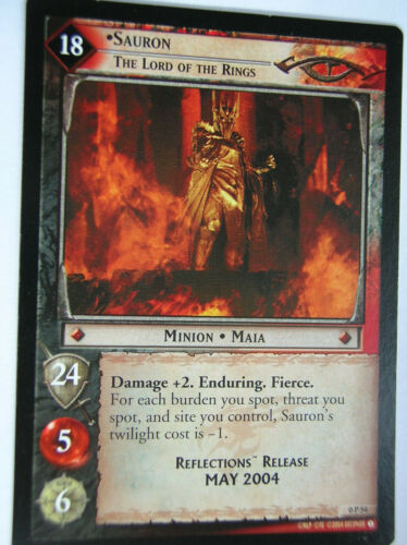 CARTE SAURON 0P54 PROMO REALEASE MAY 2004 LORD OF THE RINGS TCG