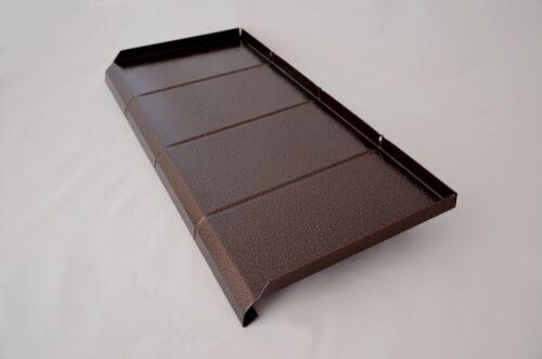 Aluminium rebord de fenêtre avec structure-Antique Cuivre-déchargés à 450 mm; ALU 1,2 mm