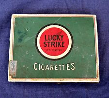 Vintage Lucky Strike Cigarettes Tin Advertising Tobacciana Tin Tabacco Stamp