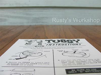 1967 Ideal TUBSY doll REPAIR INSTRUCTIONS Reproduction