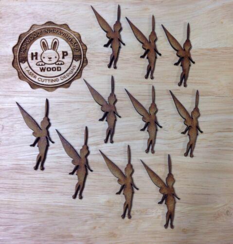 X25 Wooden Tinkerbell Mdf Craft Shape Blank Disney