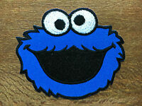 NEW COOKIE MONSTER Patches Iron on Sew Embroidered Patch Fancy Dress #1
