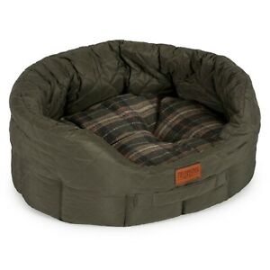 Ancol-Heritage-Quilted-Oval-Dog-Bed