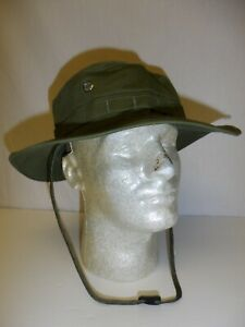 BLACK POPLIN JUNGLE HAT MADE IN USA