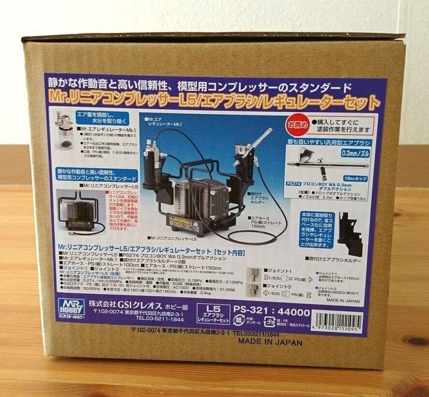 Mr. Compresor lineal L5 Aerógrafo Set PS321 Hobby Pintura de Japón F S