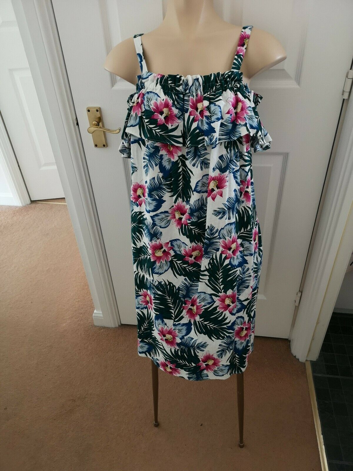 Size 12 Tropical Print Summer Dress new with tags