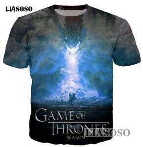 New-Fashion-Womens-Mens-Game-of-Thrones-Funny-3D-Print-Casual-T-Shirt-YT842