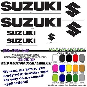 Suzuki logo gsxr sv tlr vstrom rgv katana decal kit ebay image is loading suzuki logo gsxr sv tlr vstrom rgv katana solutioingenieria Image collections