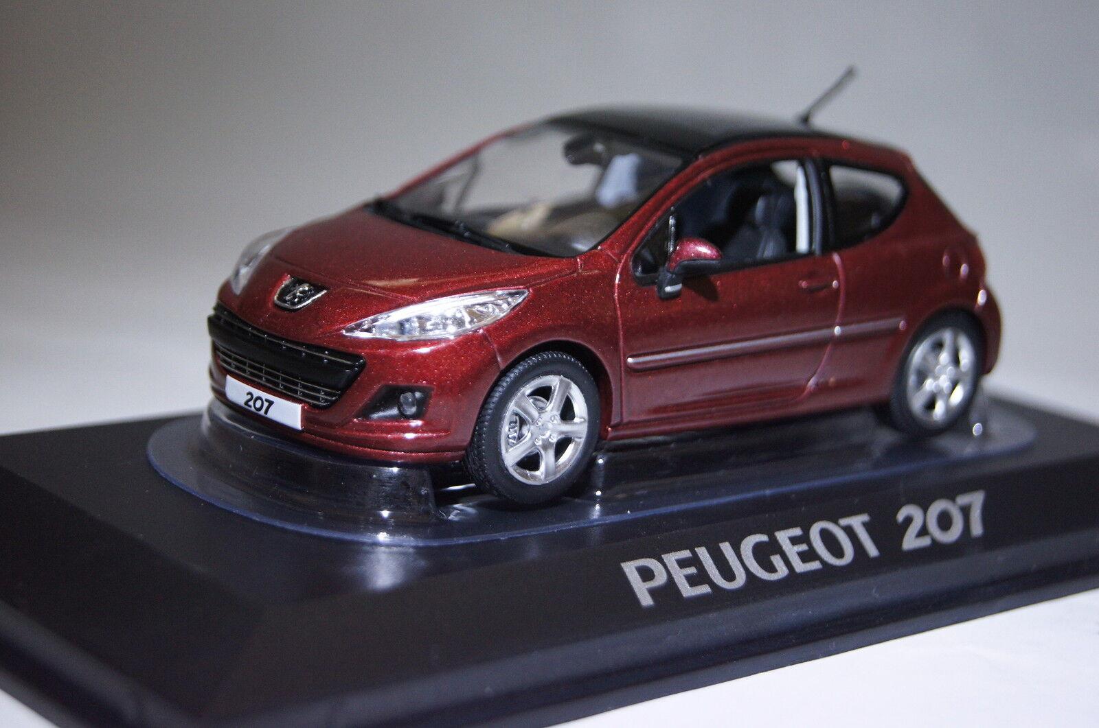 Peugeot 207 rouge 2009 1 43 Norev neu & OVP 472792