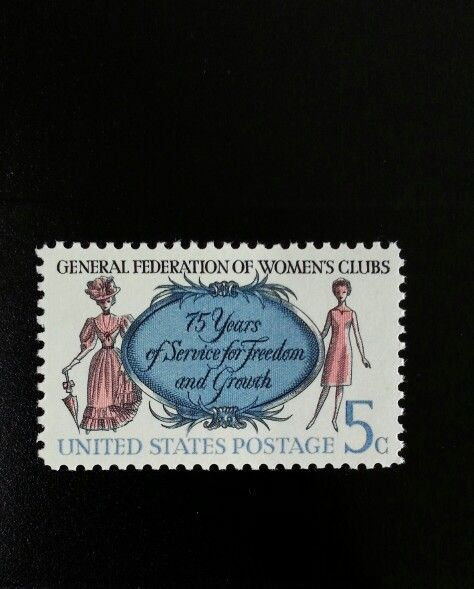 1966 5c Federation of Women's Clubs, 75th Anniversary S