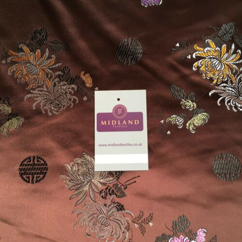 """Chinese Floral Blossom Oriental Brocade Satin 44/"""" Wide  M241 Mtex"""