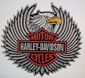 Harley-Davidson Patch Silver Eagle with bar & shield logo
