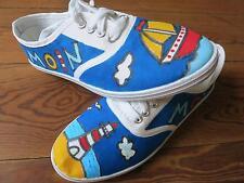 handbemalt Sneaker Chucks Schuhe Leuchtturm Segelboot Moin, Unikat Design Gr. 40