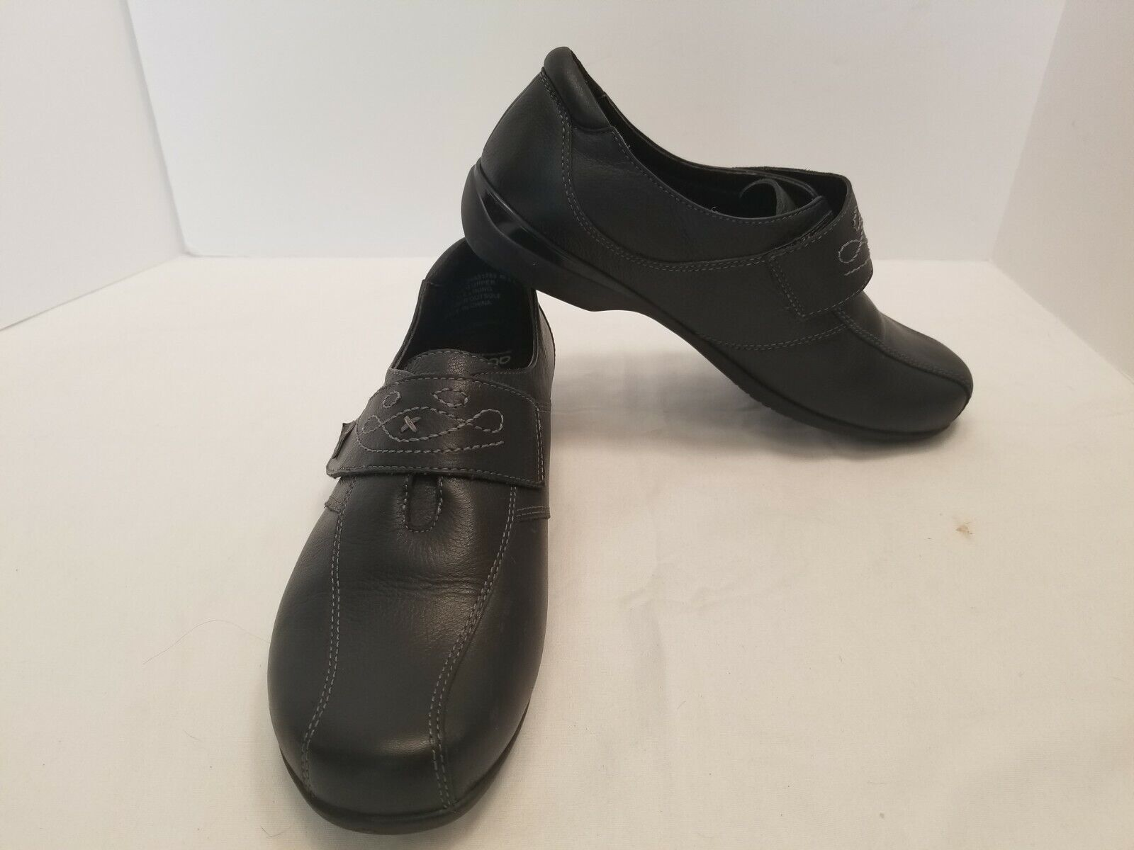 Abeo ASTER Black Orthotics Slip On Loafers Women's Comfort Shoes Size 8.5 EUC