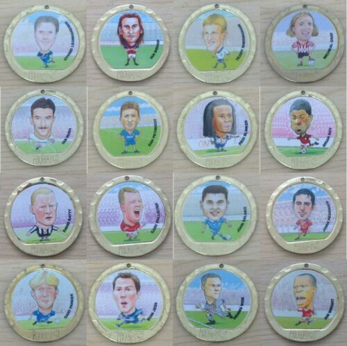 Promatch-97-1997-Football-Player-Coin-Medals-Single-Coins-Various-Teams