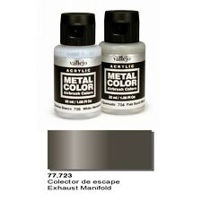 Vallejo Paints Metal Color VLJ-77723 Exhaust Manifold Metal Color 32ml Bottle