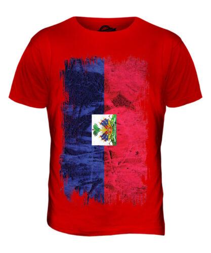 Haïti Grunge Drapeau T-Shirt Homme Tee Top hañti haïtien Ayiti shirt football