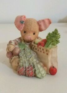 TLP-This-Little-Piggy-034-Went-to-Market-034-Figure-Collectable-Enesco-Pig
