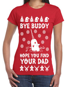 image is loading 645 bye buddy womens t shirt ugly christmas - Buddy The Elf Christmas Sweater